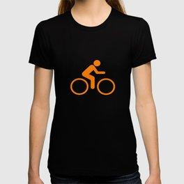 Orange Graphic Cycling Bicycle design T-shirt