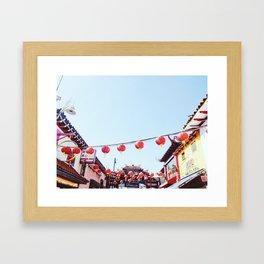 Los Angeles Chinatown Framed Art Print