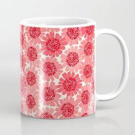 Coral Floral Coffee Mug