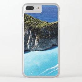 Zakynthos Island, Navagio Beach bay Clear iPhone Case