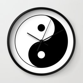 Black and White Yian Yang Wall Clock