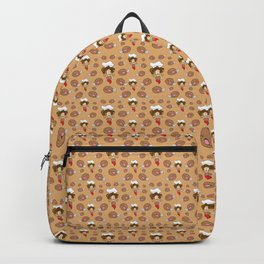 chef with fried chicken thigh tie Backpack