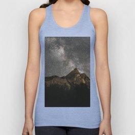 Milky Way Over Mountains - Landscape Photography Unisex Tank Top