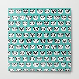 emotional panda pattern Metal Print