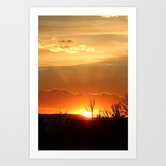Sunset in Big Sky Country Art Print