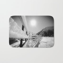 Snow Fence Bath Mat