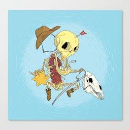 Cowboy Skull Canvas Print