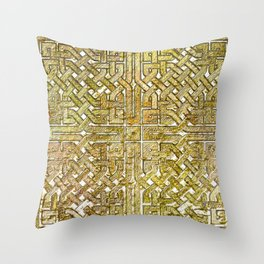 Gold Celtic Knot Square Throw Pillow