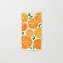 Orange Slices With Blossoms Hand & Bath Towel