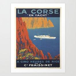 Vintage poster - La Corse, France Art Print
