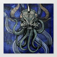 kraken Canvas Prints featuring Kraken by Spooky Dooky