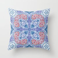 greek Throw Pillows featuring Greek Summer by RED ROAD STUDIO