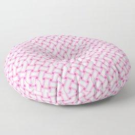 Pink Celtic Knot Pattern Floor Pillow