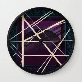 Crossroads - purple graphic Wall Clock