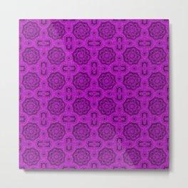 Dazzling Violet Doily Floral Metal Print