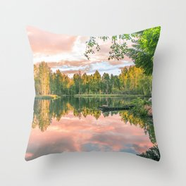 Forest Silence Throw Pillow