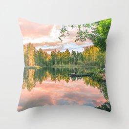 Forest Silence Throw Pillow