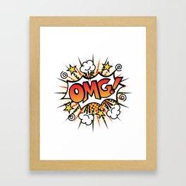 Pop Art OMG! Text Design Framed Art Print