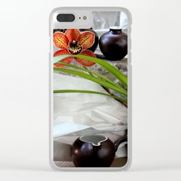 Salt And Pepper With Cream Clear iPhone Case