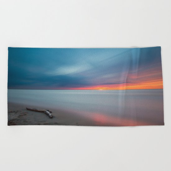 Sunset pastel #ocean Beach Towel
