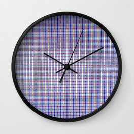 blue square Wall Clock