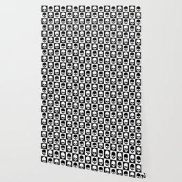 Checkered Skulls Pattern I Wallpaper