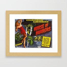House of Horrors, vintage horror movie poster Framed Art Print