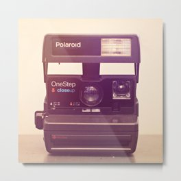 polaroid one step Metal Print