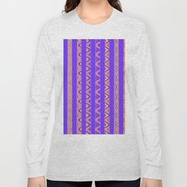 Contemporary African Style Abstract Stripes Long Sleeve T-shirt