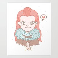 ygritte Art Prints featuring Ygritte by Stefie Zöhrer