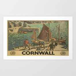 Vintage poster - Cornwall Art Print