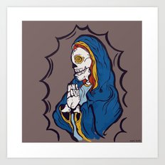 The Ojeros Ticked Virgin Mary  Art Print