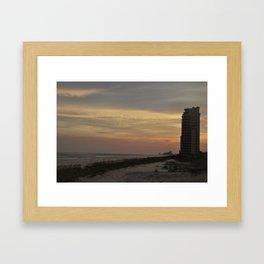 Sunset on the Beach Framed Art Print