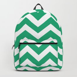 Green (Crayola) - green color - Zigzag Chevron Pattern Backpack