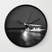 oil Wall Clocks featuring OIL by Anthony Morell