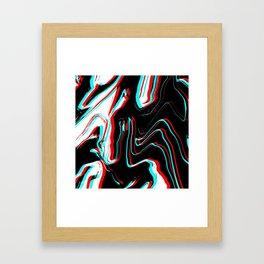 Trippy Confused Framed Art Print