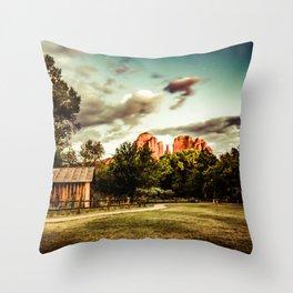 Southwest Chimney Rock Vortex Sedona Arizona Throw Pillow