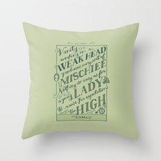 Jane Austen Covers: Emma Throw Pillow