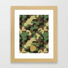 CAMO & GOLD GLITTER BOMB DIGGITY Framed Art Print