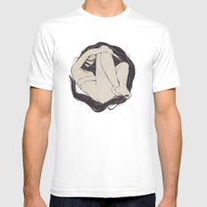My Simple Figures: The Circle SMALL Mens Fitted Tee White