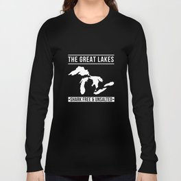 Great Lakes Shark Free and Unsalted T-Shirt Vintage Tee Long Sleeve T-shirt