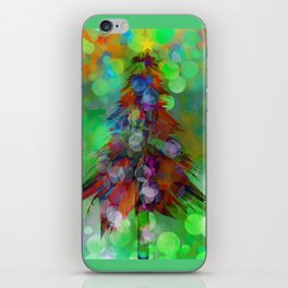 Abstract Christmas Tree - color variation iPhone Skin