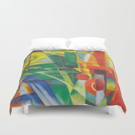 Landscape with House, Dog and Cow Duvet Cover