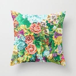 Vintage Garden #digital #nature Throw Pillow