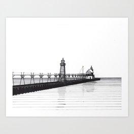 Grand Haven Lighthouse Art Print