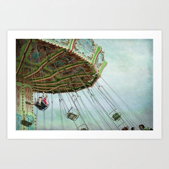 in the air Art Print