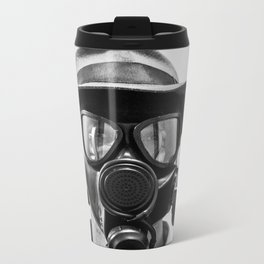 Gas Mask Metal Travel Mug