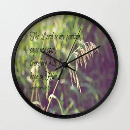 Lamentations 3 Hope Wall Clock