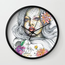 Nostalgia in Bloom Wall Clock