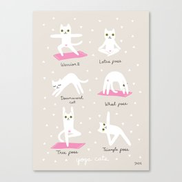 Yoga Cats Canvas Print